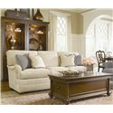 Thomasville® Fredericksburg Storage Cocktail Table with Two Drawers - Shown with an Upholstered Sofa and Bibliotheque