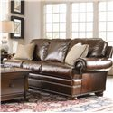 Thomasville® Leather Choices - Ashby Select Leather Sofa with Rolled Arms and Bun Feet - Shown in Room Setting