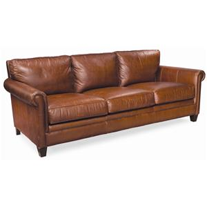 "Thomasville® Mercer Series 92"" Leather Sofa"