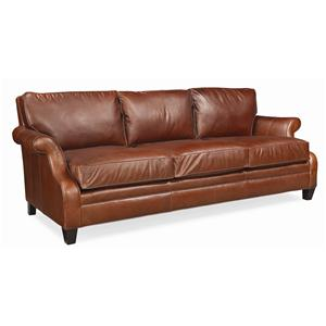 "Thomasville® Mercer Series 94"" Leather Sofa"
