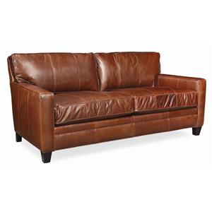 "Thomasville® Mercer Series 74"" Leather Sofa"