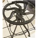 Thomasville® Reinventions Pulley Side Table w/ Glass Top - Open, Wavy Metal Design with Glass Cover