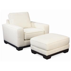 Thomasville® Retreat Contemporary Chair and Ottoman