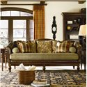Thomasville® Sorrento  Classic Single-Seat Sofa with Shaped Back and Wood Base - Shown in Room Setting