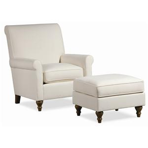 Thomasville® Upholstered Chairs and Ottomans Solitaire Chair & Ottoman