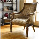 Thomasville® Upholstered Chairs and Ottomans Anson Exposed Wood Accent Chair - Shown in Room Setting