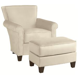 Thomasville® Upholstered Chairs and Ottomans Sable Chair and Ottoman