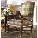 Thomasville® Upholstered Accents Lucca Chair with Wood Arms and Base - Shown in Room Setting