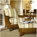 Thomasville® Upholstered Accents Tortola Chair with Exposed Wood  - Shown with Ottoman in Room Setting