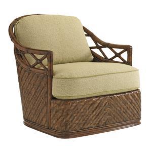 Tommy Bahama Home Bali Hai Diamond Cove Swivel Chair