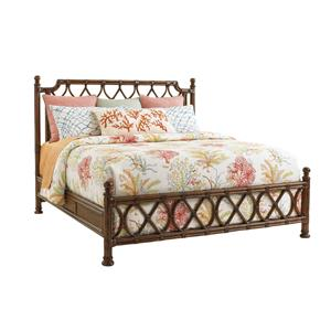 Tommy Bahama Home Bali Hai King Island Breeze Rattan Bed