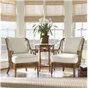Tommy Bahama Home Beach House Ocean Breeze Chair with Exposed Rattan Details - Shown with Coral Springs Accent Table
