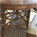 Tommy Bahama Home Beach House Five-Piece Coconut Grove Round Dining Table & Sanibel Bent Rattan Side Chairs Set - Bent Rattan Base
