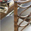 Tommy Bahama Home Beach House Nine-Piece Boca Grande Rectangular Leg Table & Sanibel Bent Rattan Chairs Set - Bent Rattan Seat Back