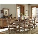 Tommy Bahama Home Beach House Nine-Piece Boca Grande Rectangular Leg Table & Sanibel Bent Rattan Chairs Set - Shown with Siesta Key Buffet