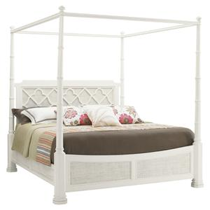 Tommy Bahama Home Ivory Key Queen Southampton Poster Bed