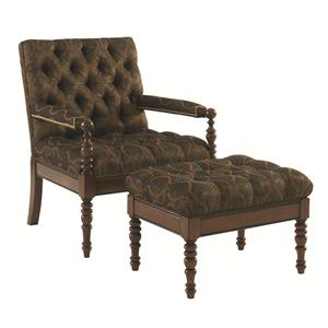 Tommy Bahama Home Landara Carrera Chair and Ottoman Set