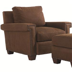 Tommy Bahama Home Road To Canberra <b>Quick Ship</b> Torres Leather Chair