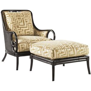 Tommy Bahama Home Royal Kahala Sumatra Chair & Ottoman