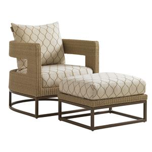 Tommy Bahama Outdoor Living Aviano Outdoor Chair and Ottoman