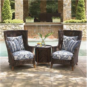 Tommy Bahama Outdoor Living Island Estate Lanai 2 Chair Set with Table