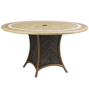 Tommy Bahama Outdoor Living Island Estate Lanai Outdoor 54 Inch Round Weatherstone Table