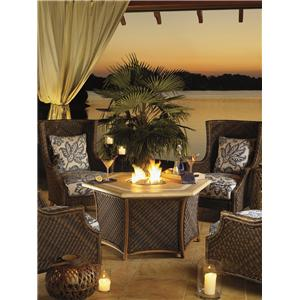 Tommy Bahama Outdoor Living Island Estate Lanai 5 Piece Fire Pit Set