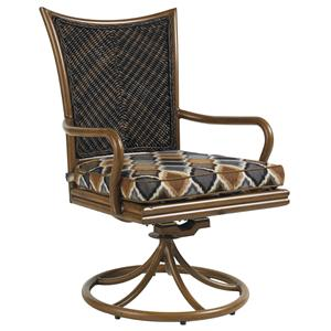 Tommy Bahama Outdoor Living Island Estate Lanai Outdoor Swivel Rocker Dining Chair