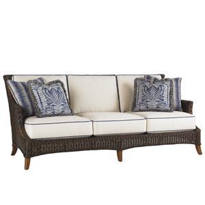 Tommy Bahama Outdoor Living Island Estate Lanai Outdoor Boxed Edge Sofa