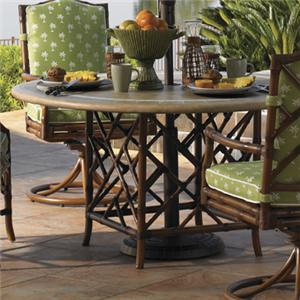 Tommy Bahama Outdoor Living Island Estate Veranda Outdoor Weatherstone Round Dining Table