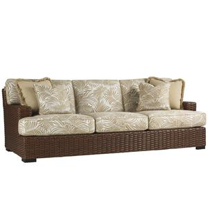 Tommy Bahama Outdoor Living Ocean Club Pacifica Outdoor Boxed Edge Sofa