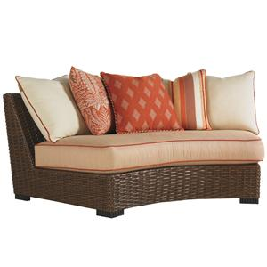 Tommy Bahama Outdoor Living Ocean Club Pacifica Outdoor Curved Armless Sofa