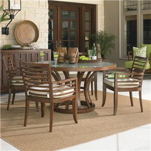 Tommy Bahama Outdoor Living Ocean Club Pacifica 5 Piece Dining Table and Chair Set