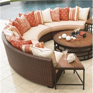 Tommy Bahama Outdoor Living Ocean Club Pacifica 3 Piece Armless Curved Sectional Sofa