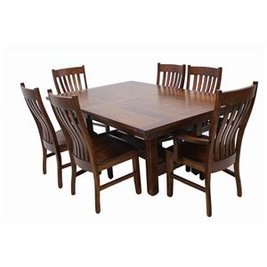 Trailway Wood STM 7 pc Dining Set
