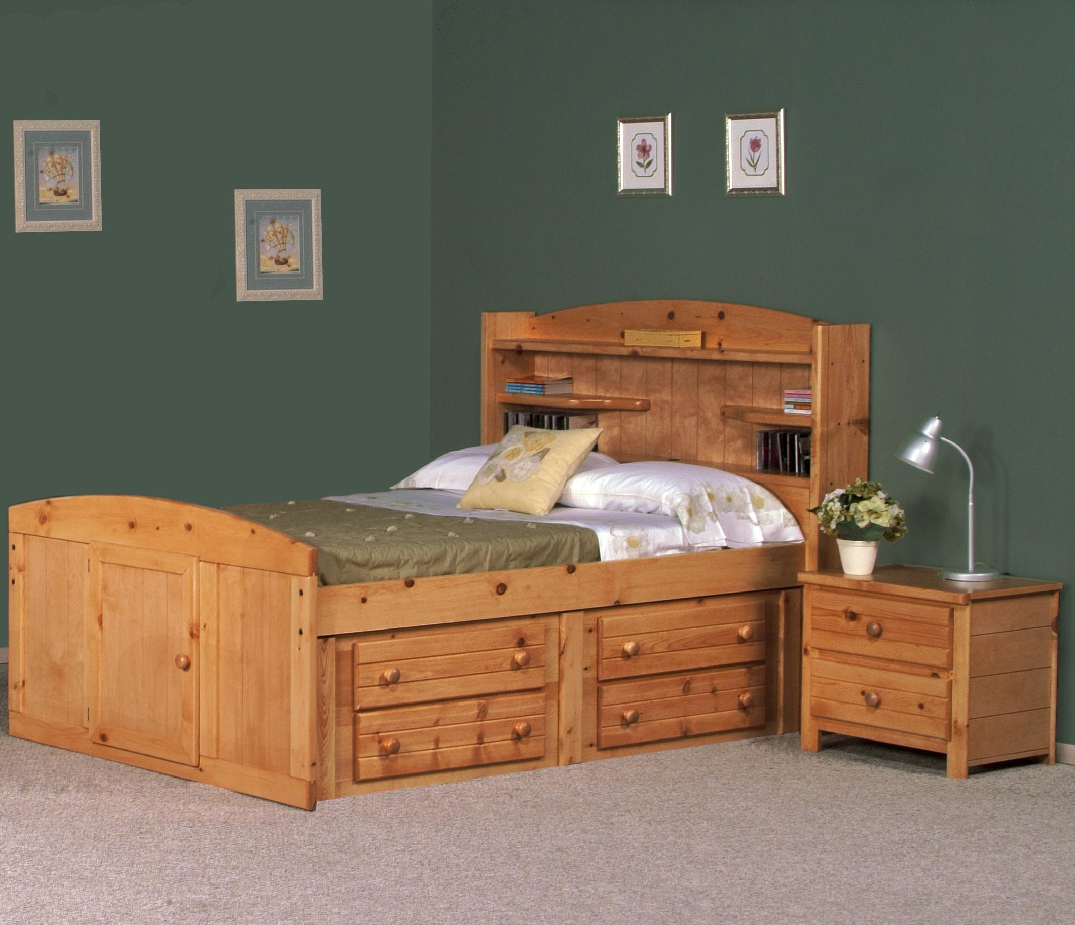Full Palomino Bed W Four Drawer Storage By Trendwood Wolf And Gardiner Wolf Furniture