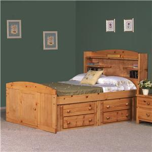 Trendwood Bayview Full Palomino Bed
