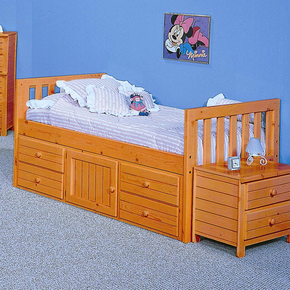 Full Captain S Bed By Trendwood Wolf Furniture