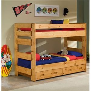 Bunk Bed in a cinnamon finish