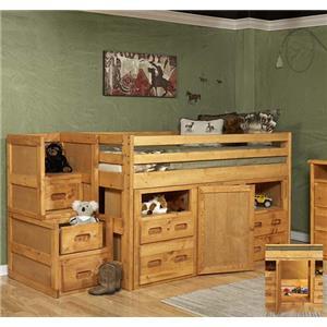 Trendwood Bunkhouse Junior Loft Bed with Storage