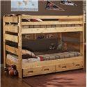 Trendwood Bunkhouse Full Big Sky Bunk Bed - Item Number: 4144+4145+4739+4762