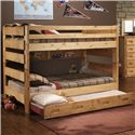Trendwood Bunkhouse Full Big Sky Bunk Bed - Shown with Trundle in Out Position
