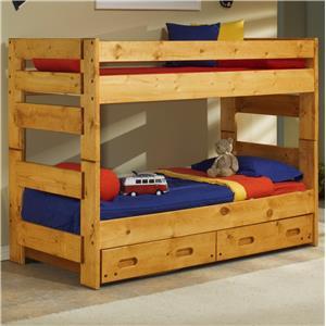 Trendwood Bunkhouse Twin Over Twin Wrangler Bunk Bed