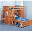 Trendwood Bunkhouse Twin/Twin Roundup Modular Loft Bed - Item Number: 4742+4743+4744+4745+4793+4746+4747