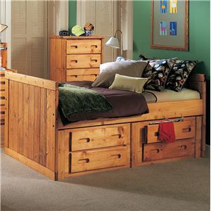 Trendwood Bunkhouse Twin Roper Captain's Bed