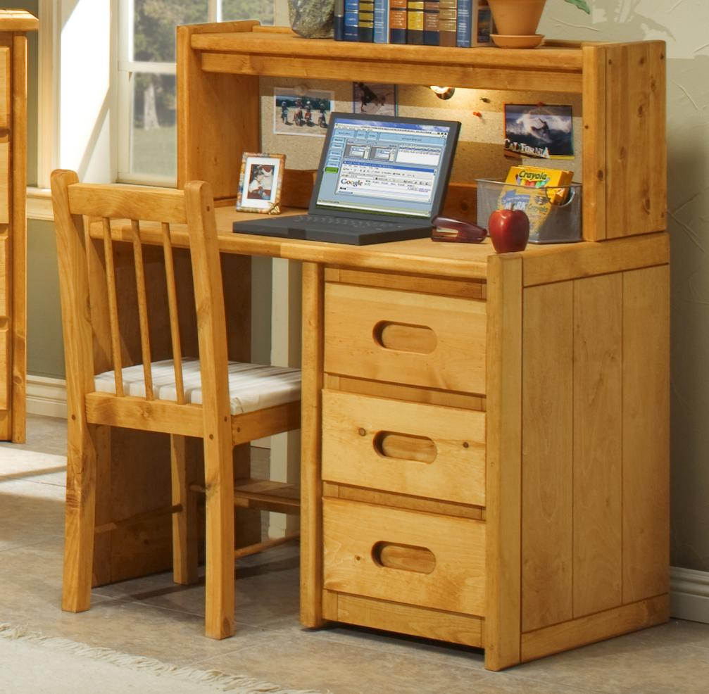 Marvelous Single Pedestal Student Desk With Corral Hutch
