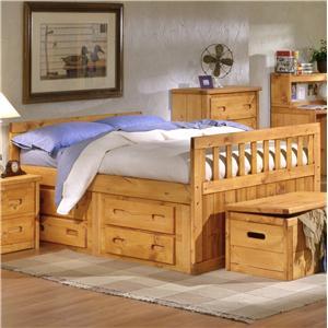 Trendwood Bunkhouse Full Bayview Captain's Bed