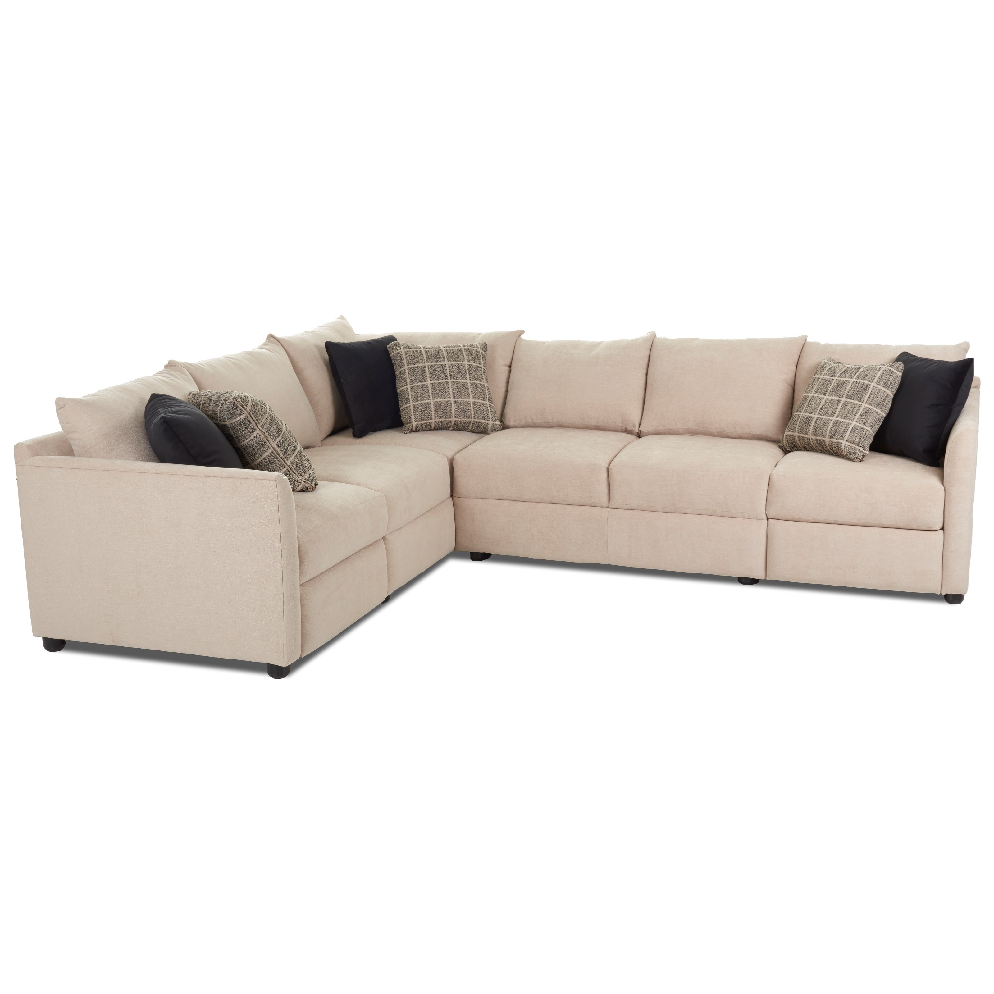 Two Piece Power Hybrid Reclining Sectional Sofa with LAF Corner Sofa