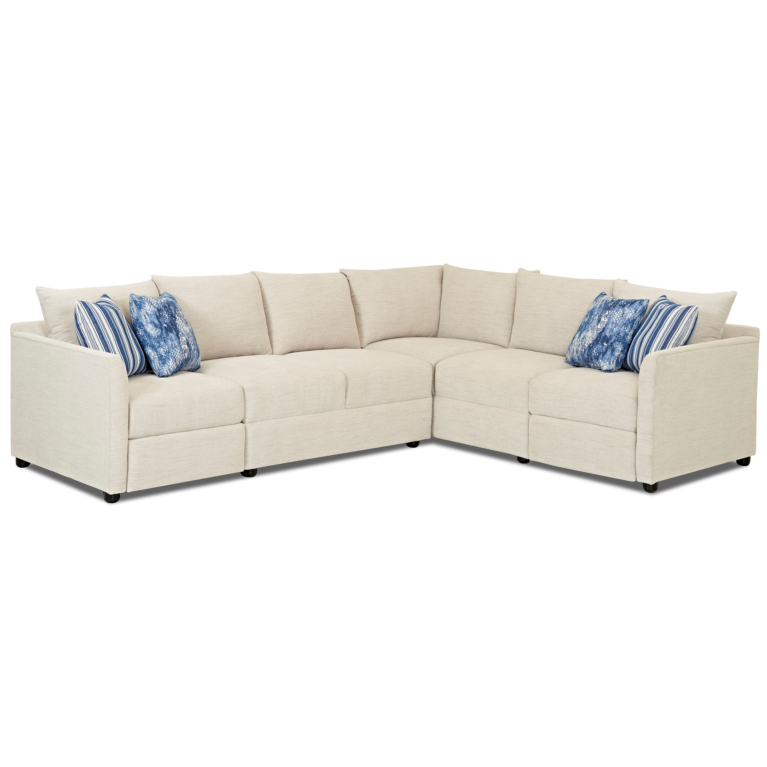Two Piece Power Hybrid Reclining Sectional Sofa with RAF Corner Sofa