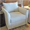 Transitional Chair with Tuxedo Arms